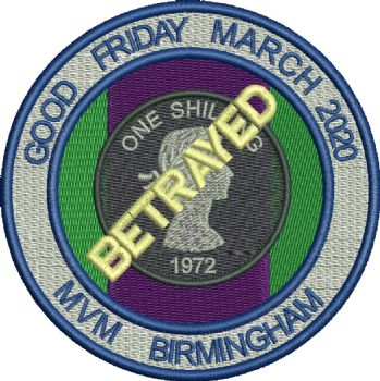 Birmingham MVM 2020 - Good Friday embroidered badge